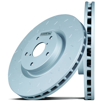 Hawk HUS522 Quiet Slot Brake Rotor - Front